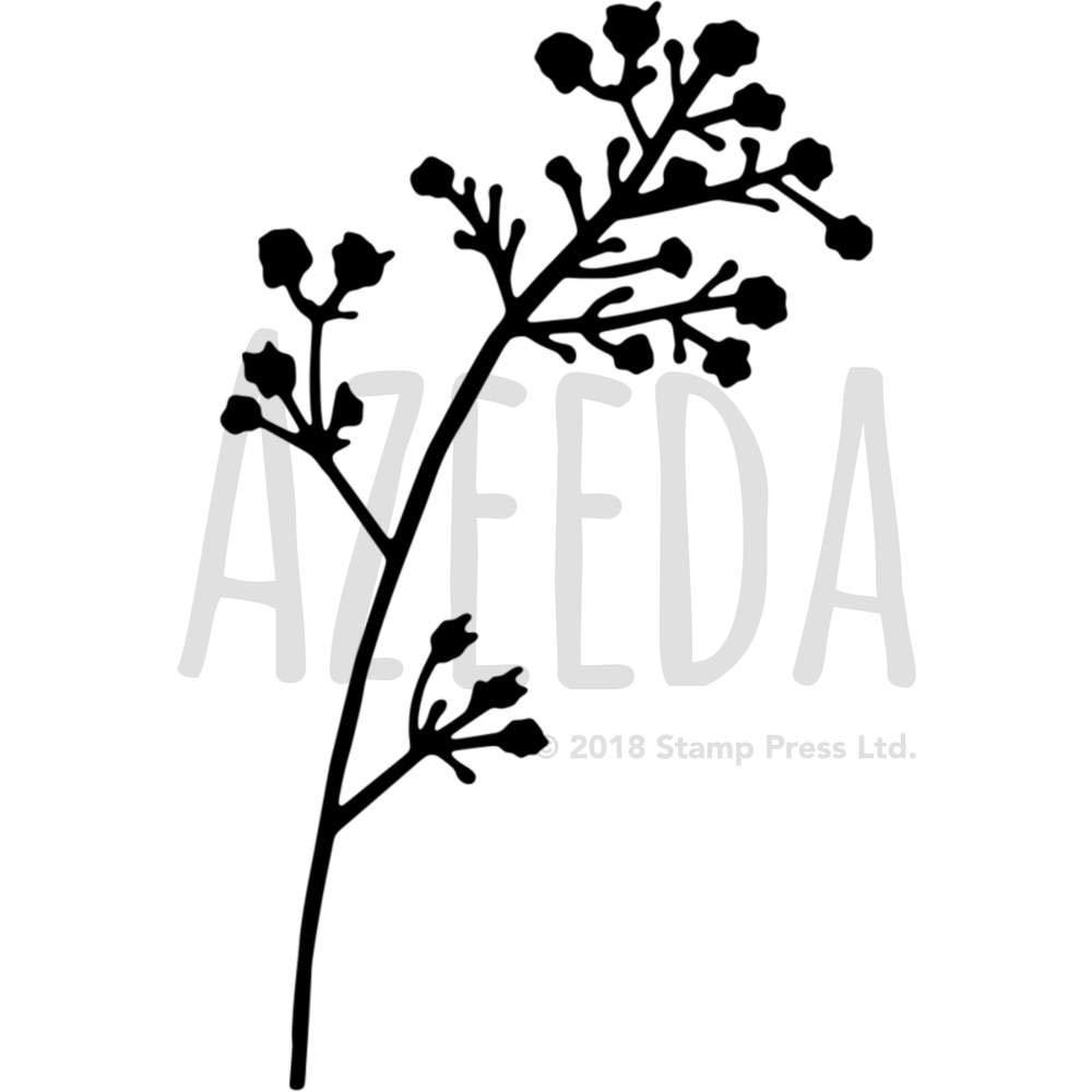 A4 ワイルドフラワーズ ウォールステンシル/テンプレート (WS00001419) B073PKQDB7