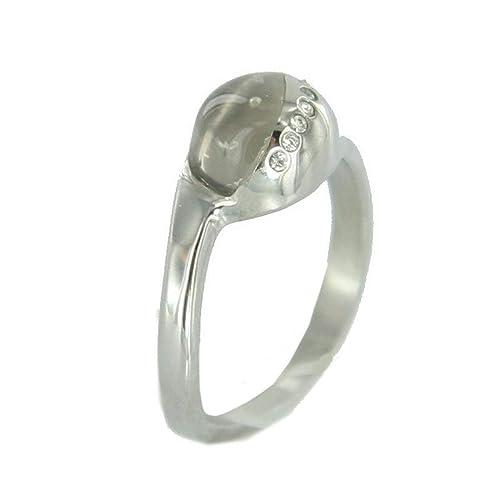 Anillo de acero inoxidable-ring blancos - JRSD021S7: Amazon ...