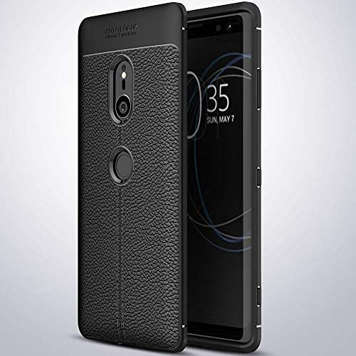QULLOO Sony Xperia XZ3 Funda Cover, Anti-rasca la Carcasa del Teléfono TPU del la Imitación Ninguna Case del Teléfono Móvil Caja del Teléfono Alta Textura Cover para Sony Xperia XZ3 Smartphone-Negro: Amazon.es: