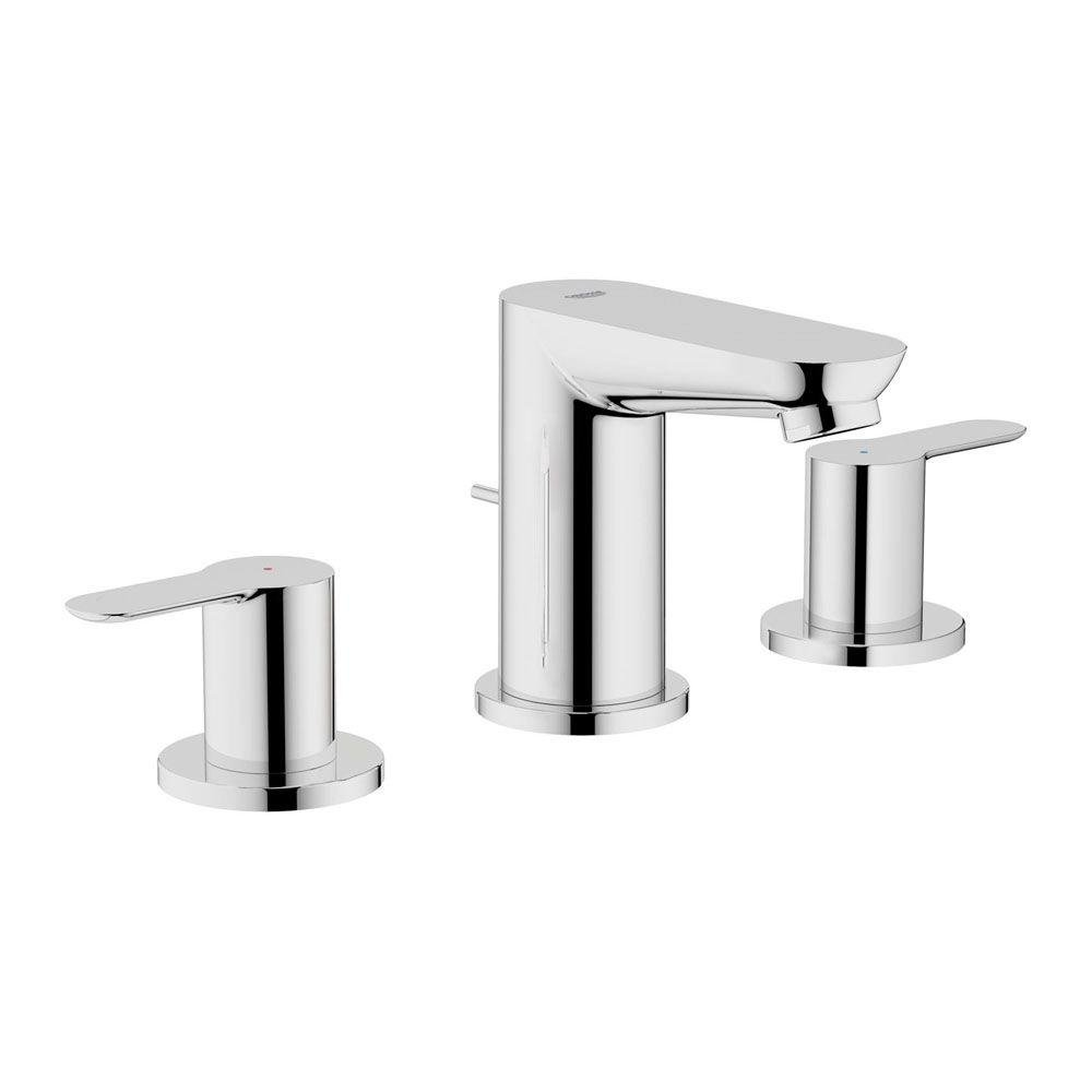 Grohe Bau Edge Widespread Bathroom Faucet   Chrome   Touch On Bathroom Sink  Faucets   Amazon.com