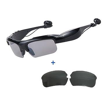 ... Auriculares Inalámbricos Música Estéreo Manos Libres Auriculares Conducir Gafas Con Bluetooth Self-Timer + Polarizadas Lentes: Amazon.es: Electrónica