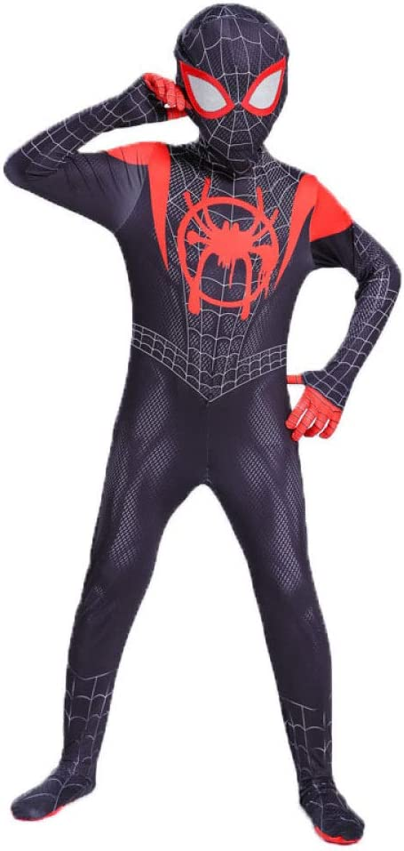 HUIHONG Spiderman Anime Disfraz Little Black Spider Disfraz Miles ...
