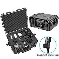 Neewer Waterproof Hard Case with Pre-Cut Cubed Foam Insert for Camera, GoPro, DJI Quadcopter, Lens, Flash, Other Accessories, Medical Equipment and More, NW-200 (Black)