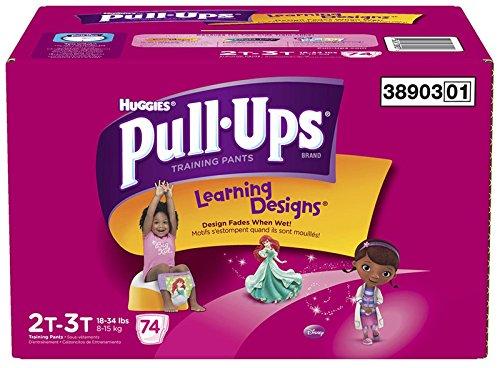 Pull-Ups Pantalons formation avec des dessins de l'enseignement des filles, 2T-3T, 74 Count (emballage peut varier)