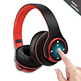 Noise Cancelling Bluetooth Headphones OverEar – Zonciny Wireless Headphones with Mic and Wired Mode, Touch Control Retractable On Ear Headset Hi-Fi Stereo for iPhone PC Android TV and More