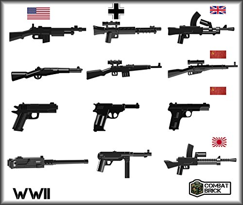 12 Custom Army Builder toy guns - Scale 1