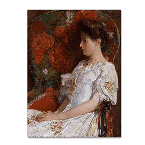 The Victorian Chair by Childe Hassam, 24x32-Inch Canvas Wall Art