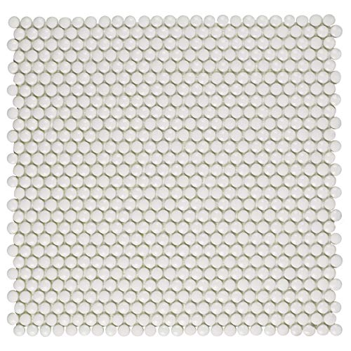 SomerTile FASEBUWT Espressioni Glass Mosaic Floor and Wall Tile, 12.5