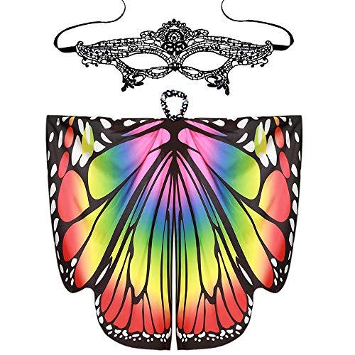 iLXHD Women Butterfly Wings Shawl Scarves Ladies Nymph