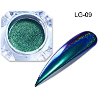 LG-09 : Born Pretty Holographic Chameleon Peacock Nail Glitter Mirror Laser Pigment Powder Holo Nail Art Chrome Glitters Nailart UV Gel