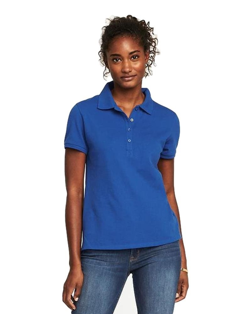 Summer Hot Sale All Year Round Uniform Pique Polo for Teens and Women! (Blue Tango, Small)