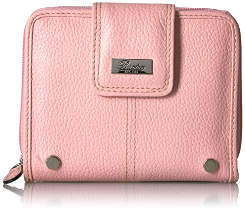 Buxton Westcott Tab Zip-Around Attache Wallet, Blush (Ten Ladies Zip Around Wallet)