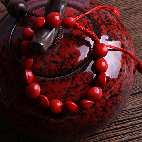 2018 Italian red spring rosary bracelet men and women weave regulate blood Bodhi bracelets peach color red beans