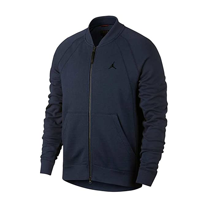 Jordan Chaqueta Bomber Wings Fleece (Azul Marino), S: Amazon ...