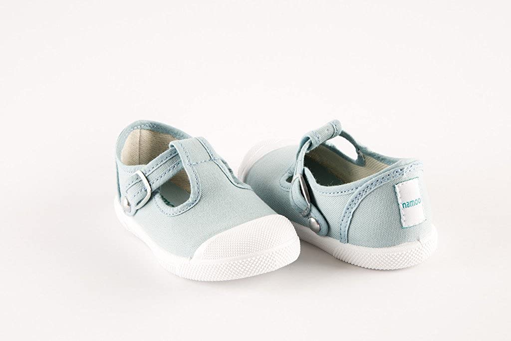 Namoo Kids Cap Toe Sandal for Girls and Boys Cotton and Rubber Sole Baby//Toddler//Kid Shoe