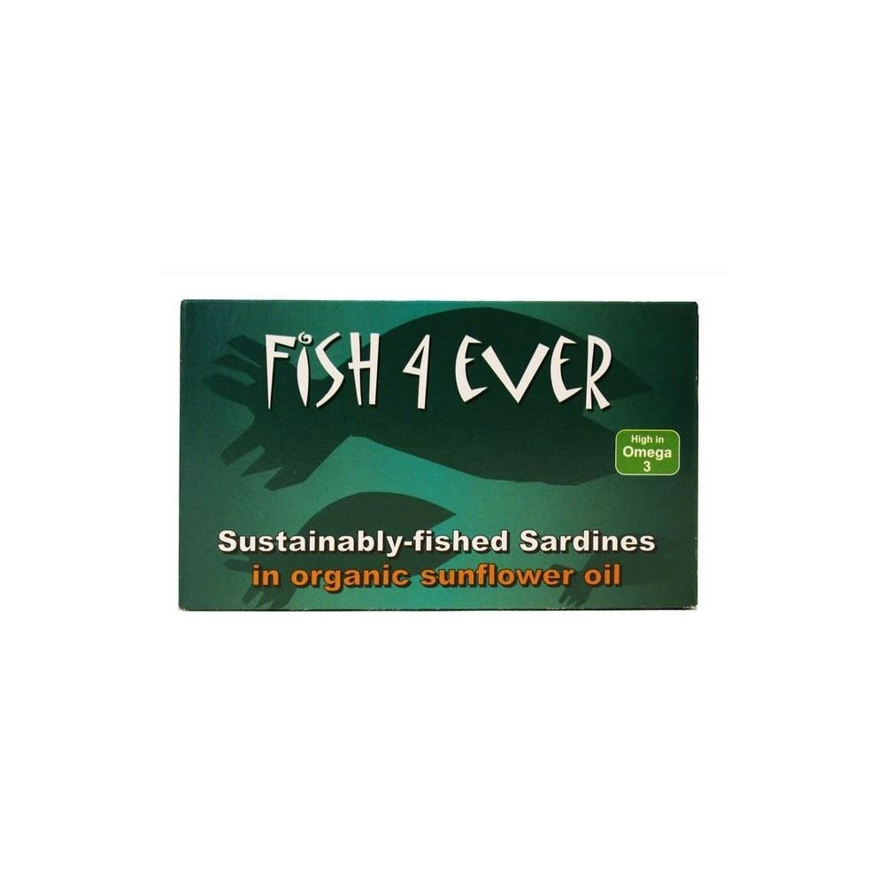 Fish 4 Ever Sardines in Organic Sunflower Oil (120g) - Pack of 2