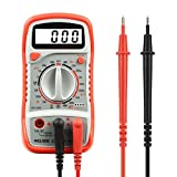 Digital Multimeter, WELAISE Electronic Amp Volt Ohm Voltage Meter Multimeter with Diode and Continuity Test Tester, Backlight LCD Display