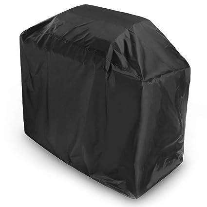 Negro Tela Oxford 210D Cuadrado Cubierta De La Parrilla De Barbacoa Impermeable Guardia Contra El Polvo