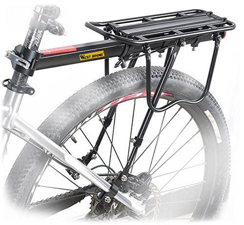 West Biking 110Lb Capacity Almost Universal Adjustable Bike Cargo Rack Cycling Equipment Stand Footstock Bicycle Luggage…