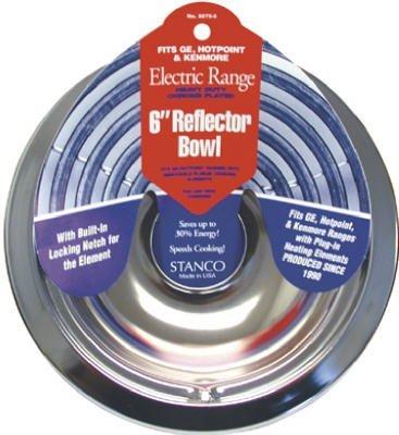 Stanco Range Reflector Bowl Fits Ge, Hotpoint & Kenmore Ranges Produced Since 1990 Hd Chrome, Porcel (Stanco Metal)