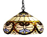 Amora Lighting AM1062HL16 Tiffany Style Ceiling Pendant Hanging Lamps - 16