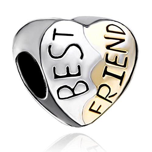 Best Friends Bead (LovelyJewelry Silver Plated Heart Best Friend Bead Bracelet)