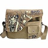Joyralcos Japanese Anime Messenger Bag Crossbody Canvas Cosplay Shoulder Bag for Boys Girls (SAO)