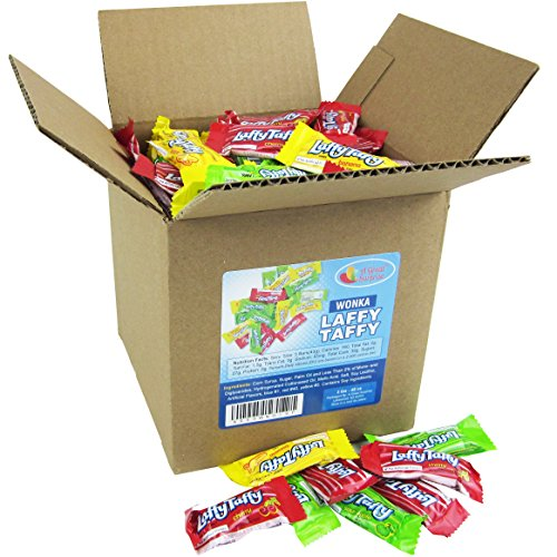 Laffy Taffy Assorted Fruit Flavors, Cherry Green Apple Banana Candy Bulk Party Box 6x6x6 Family Size by A Great Surprise (Image #2)