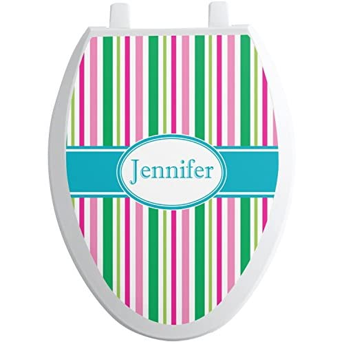 durable modeling Grosgrain Stripe Toilet Seat Decal - Round (Personalized)