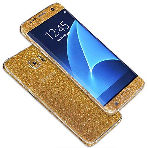 Tonsee Luxus Bling Glitter zurück Film Tasche Schutzhülle Case für Samsung Galaxy S7 edge (gold)