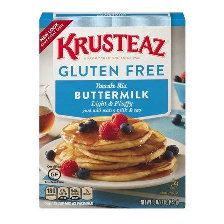 Krusteaz, Gluten Free, Pancake Mix, Buttermilk, 16oz Box (Pack of 2) by Krusteaz