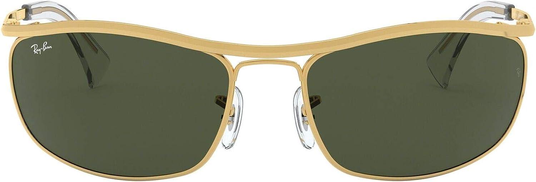 Ray-Ban mens Rb3119 Olympian Wrapped Rectangular Sunglasses Wrap Sunglasses