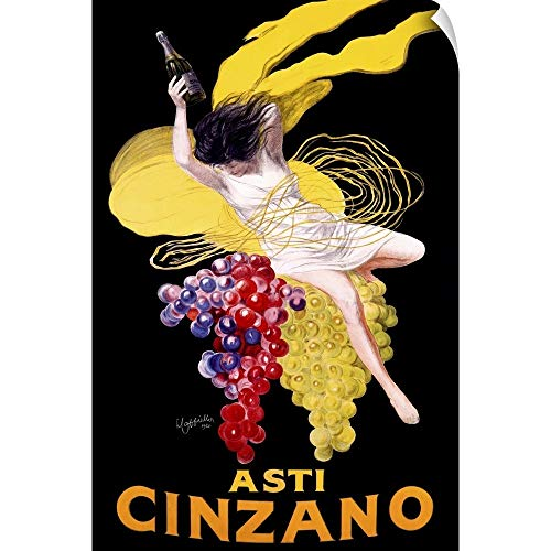CANVAS ON DEMAND Cinzano Asti Aperitif Wine Vintage Advertising Poster Wall Peel Art Print, 24