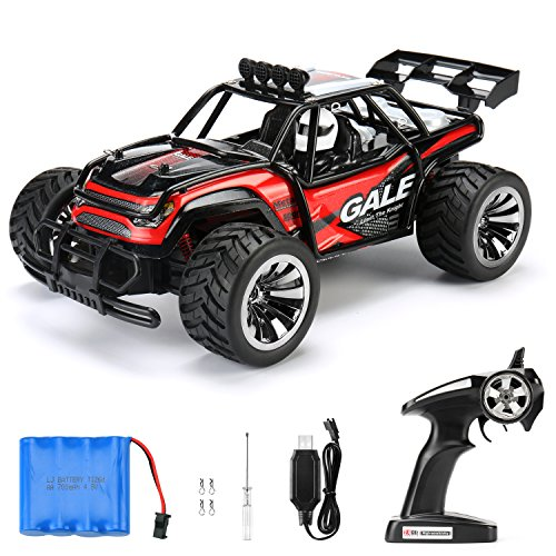 RC Car Remote Control Cars TOQIBO Electric Racing Car Off Road 1/16 Scale 2.4Ghz 50M 2WD High Speed Desert Buggy Vehicle Radio Controlled Monster Truck Rock Crawler Toy Car With 4 More Lock Catch - Remote Control Items