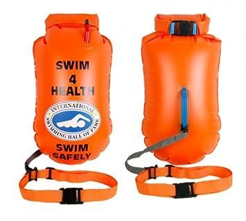 SwimmerWear Boya inflable de apoyo para natación en mar abierto, 64 ...