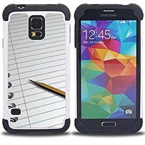 /Skull Market/ - Pen For Samsung Galaxy S5 I9600 G9009 G9008V - 3in1 h????brido prueba de choques de impacto resistente goma Combo pesada cubierta de la caja protec -