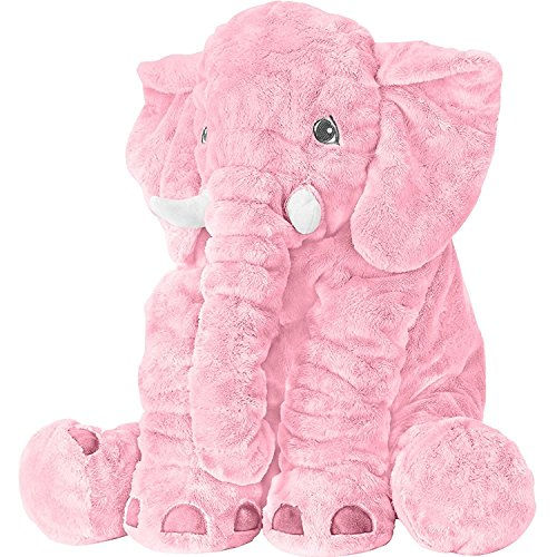 - Stuffed Elephant Fluffy Giant Elephant Stuffed Animal Durable Elephant Plush Toy Large Soft Toy Gifts For Kids 24 Inches 1kg Pink