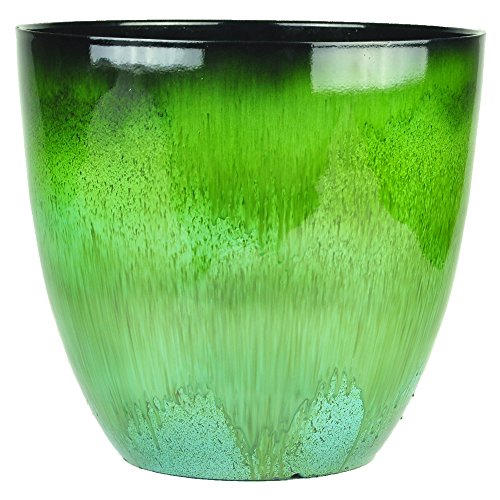 Gardener Select EPR15-205 Egg Planter Green Flower, 15