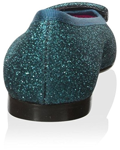 Le Babe Mujeres Ballet Flat Turquoise Glitter