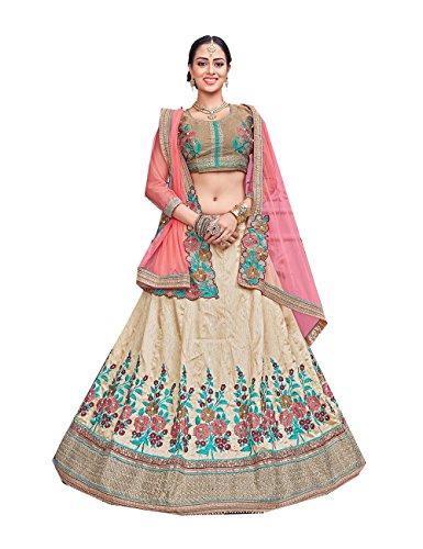 Partywear Designer Off Facioun Indian Ethnic Women 1 Choli Da Traditional Lehenga White wxtIzSd