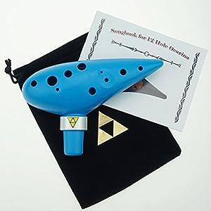 Ocarina of Time 12 Hole Plastic Zelda Ocarina,12 Hole Alto C Ocarina ,Replica Zelda Ocarina,Unbreakable Plastic Ocarina by OcarinaWind
