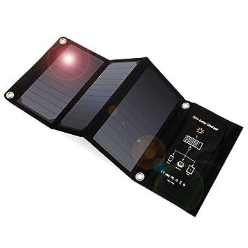 Cargador Solar 20W Panel Solar con Doble Puerto USB ...
