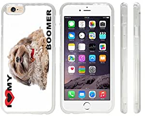 Rikki KnightTM I Love My Boomer Dog Design iPhone 6 Case Cover (Clear with front bumper protection) for Apple iPhone 6