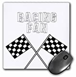 3dRose mp_55653_1 8 x 8 Racing Fan Black Checkered Flags - Sports - Race Art Mouse Pad