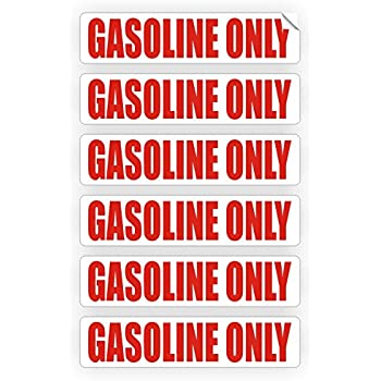 Amazon 6 pack diesel fuel only decals stickers labels gasoline only automotive fuel decals gas can stickers shop labels vinyl markers 6 pack spiritdancerdesigns Gallery