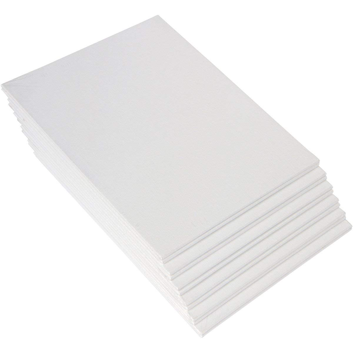 12 Pack Canvas Panel,Acid Free,Artist Canvas Boards,8x10 Inch,Academy Art Supply Value Pack Blank Canvas Panel Boards