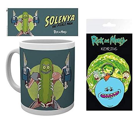 Set: Rick Y Morty, Solenya Taza Foto (9x8 cm) Y 1 Rick Y ...