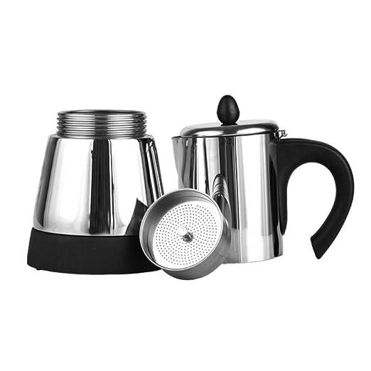 Cafetera eléctrica de acero inoxidable para cafetera moka o tetera ...