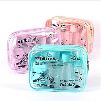 Vanki Travel Bottles for Makeup Cosmetic Toiletries Liquid Containers Leak Proof Portable Travel Accessories (Light purple)9pcs