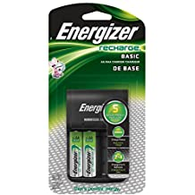 Energizer Basic Charger, Includes 2 AA Batteries 1-Count